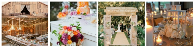 collage rustic weddings