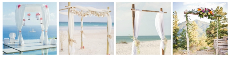 collage chuppah and arch