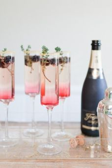 Blackberry Thyme Cocktails