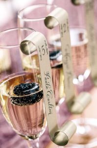Champagne Cocktail Escort Cards