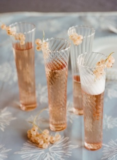 Pink Champagne with Sugar Sticks