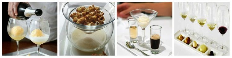 collage desserts and wine pairing