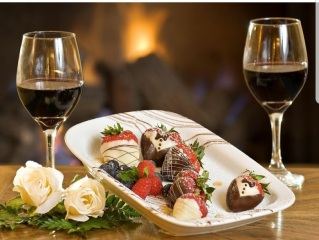 sweet wine and chocolate