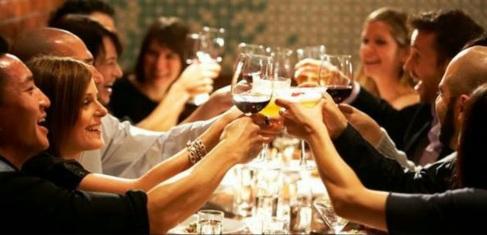 wine tasting guests