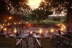 Dinner around the fire