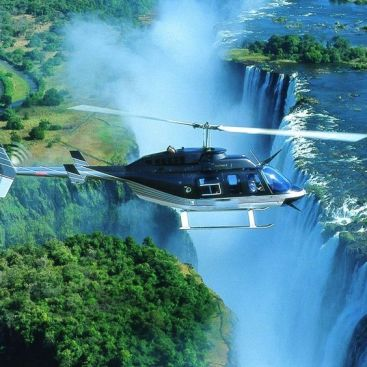 heli ride vic falls