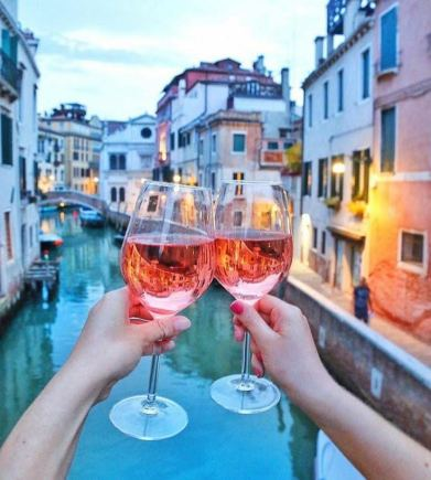 wine and venice canals